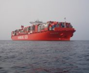 rescue boat drill on the 26.06.2013 - South China Sea